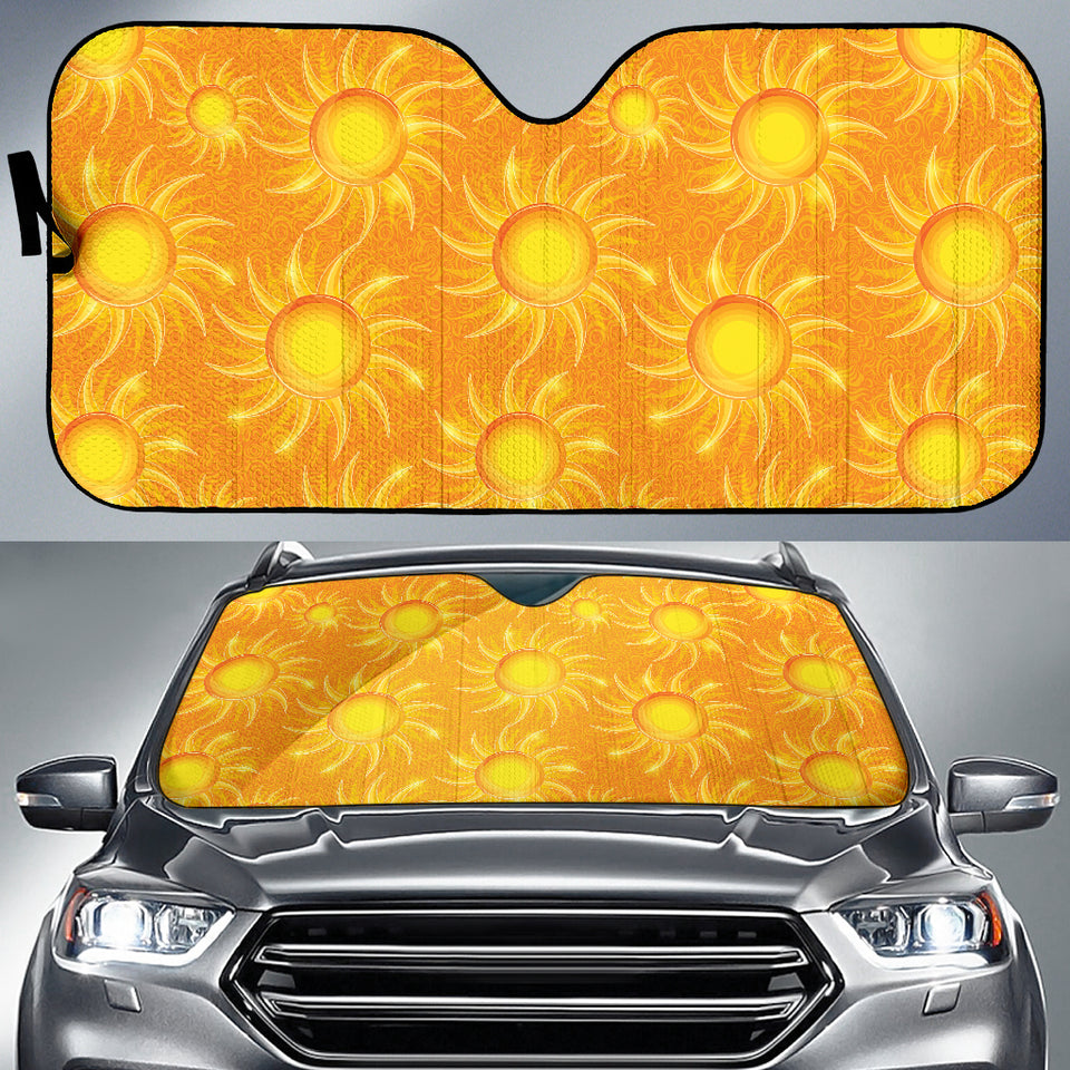Sun Orange Background Car Sun Shade
