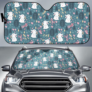 Cute Rabbit Pattern Car Sun Shade
