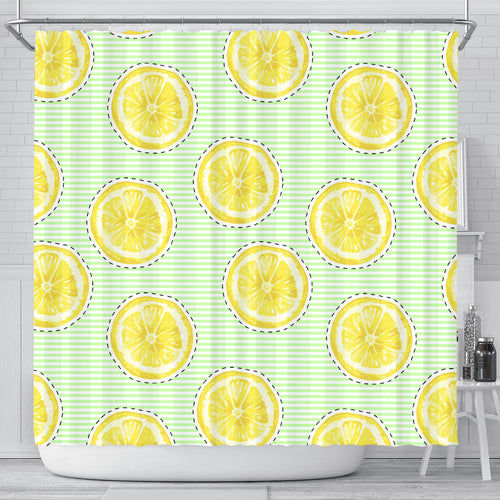 slice of lemon pattern Shower Curtain