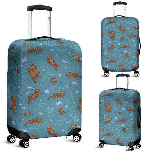 Sea otters pattern Luggage Covers