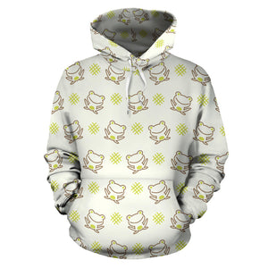Cute cartoon frog baby pattern Pullover Hoodie