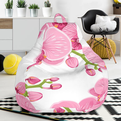 pink purple orchid pattern background Bean Bag Chair