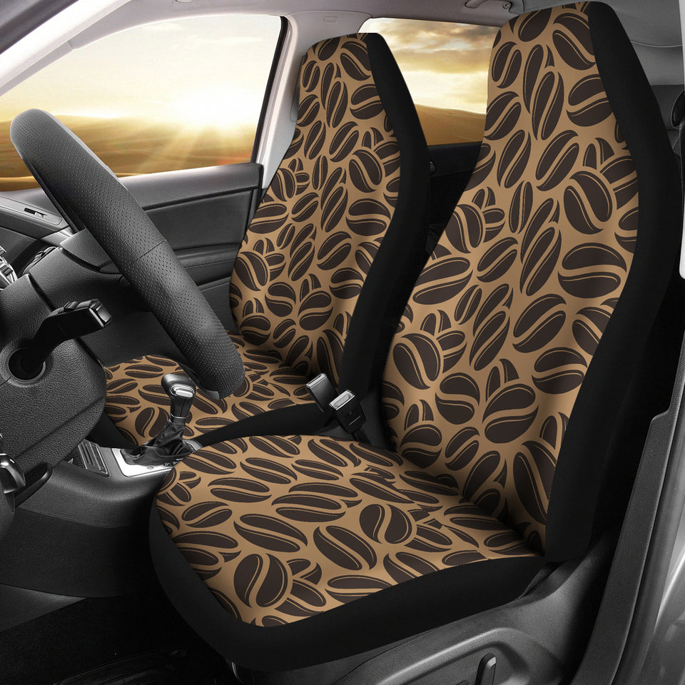 Coffee Bean On Brown Background Universal Fit Car Seat Covers
