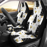Christmas Tree Holly Snow Star Pattern  Universal Fit Car Seat Covers