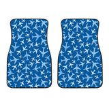 Airplane Pattern In The Sky  Front Car Mats
