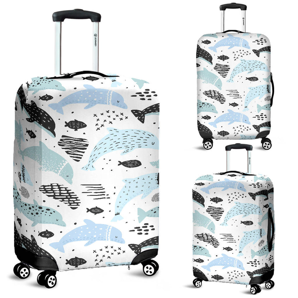 Cute dolphins Childish Style pattern Luggage Covers