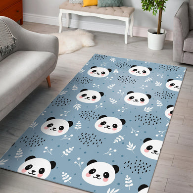 Cute panda pattern Area Rug
