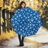 Airplane pattern in the sky Umbrella