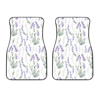 Hand Painting Watercolor Lavender Front Car Mats