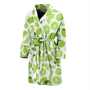 Lime Design Pattern Men'S Bathrobe