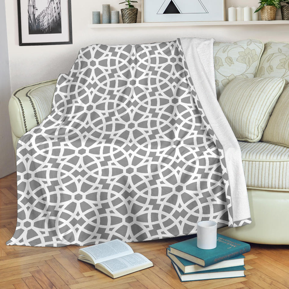 arabic gray pattern Premium Blanket