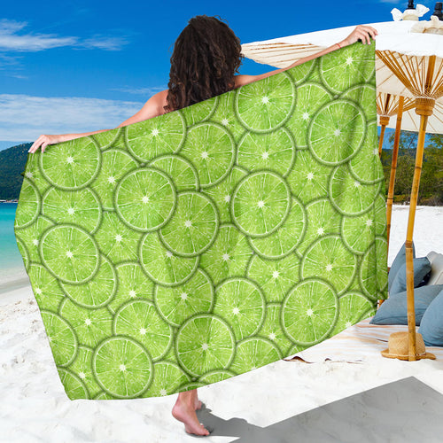 Slices of Lime pattern Sarong