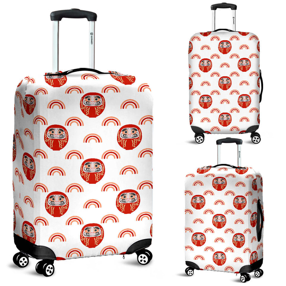 Daruma japanese wooden doll design pattern Luggage Covers