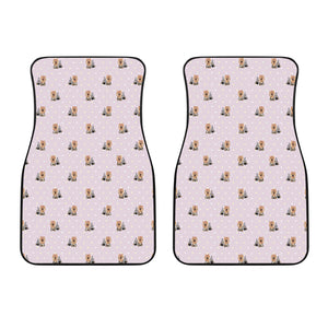Yorkshire Terrier Pattern Print Design 02 Front Car Mats