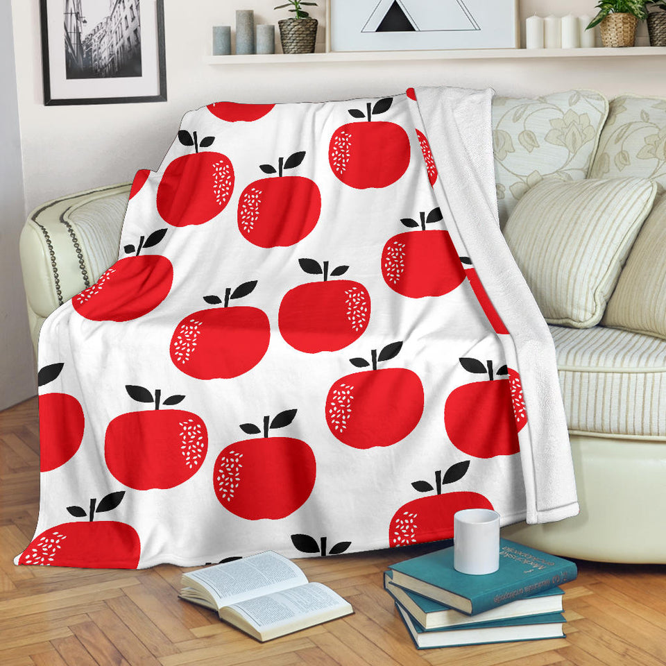 red apples white background Premium Blanket
