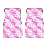 Pink flamingo flower pattern Front Car Mats