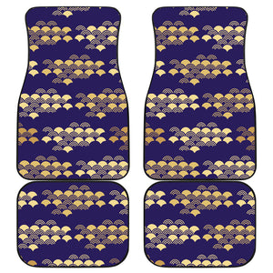Beautiful japanese fan pattern Front and Back Car Mats