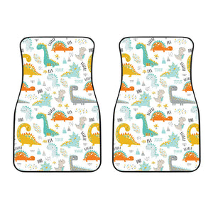 Cute Funny Kids Dinosaurs Pattern Front Car Mats