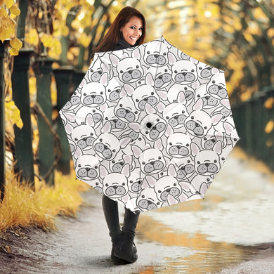 Cute french bulldog head pattern Umbrella