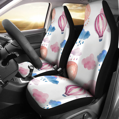 Watercolor air balloon cloud pattern Universal Fit Car Seat Covers