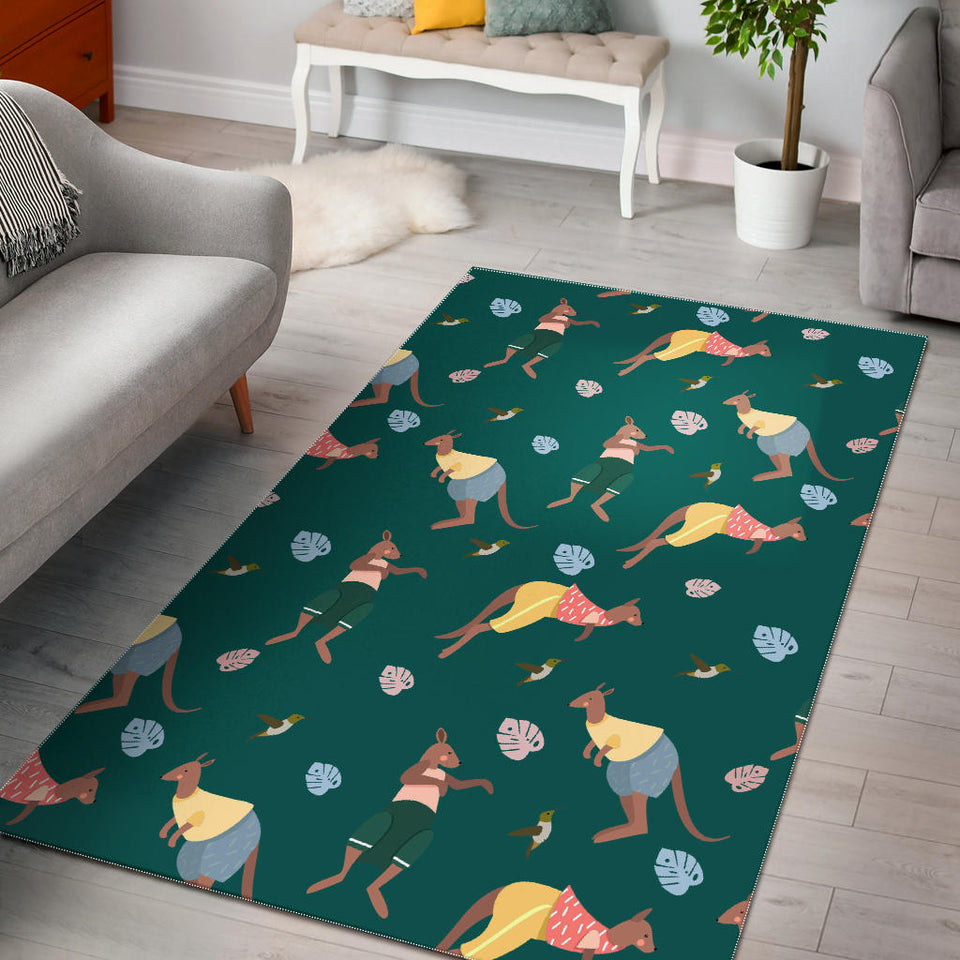 Kangaroo leaves pattern Area Rug