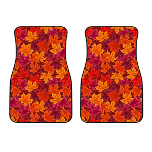 Autumn Maple Leaf Pattern Front Car Mats