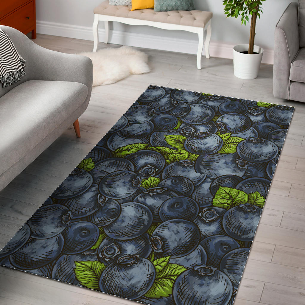 Blueberry Pattern Area Rug