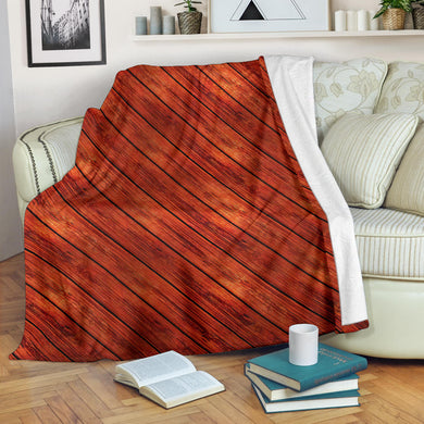 Wood Printed Pattern Print Design 03 Premium Blanket