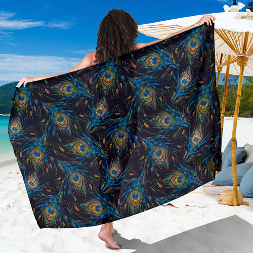Beautiful peacock feather pattern Sarong
