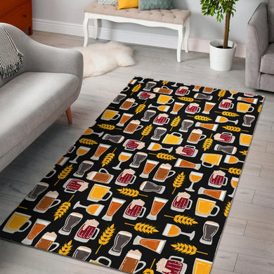 Beer type pattern Area Rug