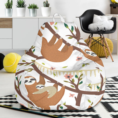 Sloths hanging on the tree pattern Bean Bag Chair