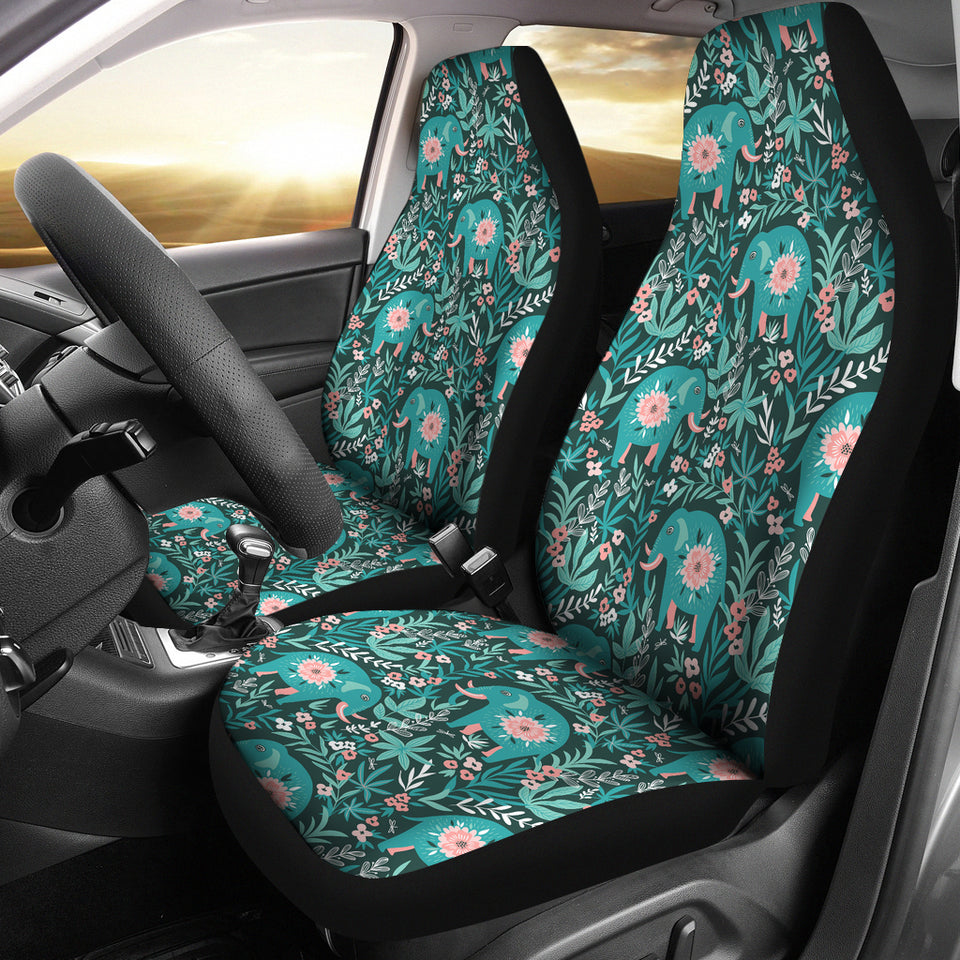 Elephants Jungle Pattern Universal Fit Car Seat Covers