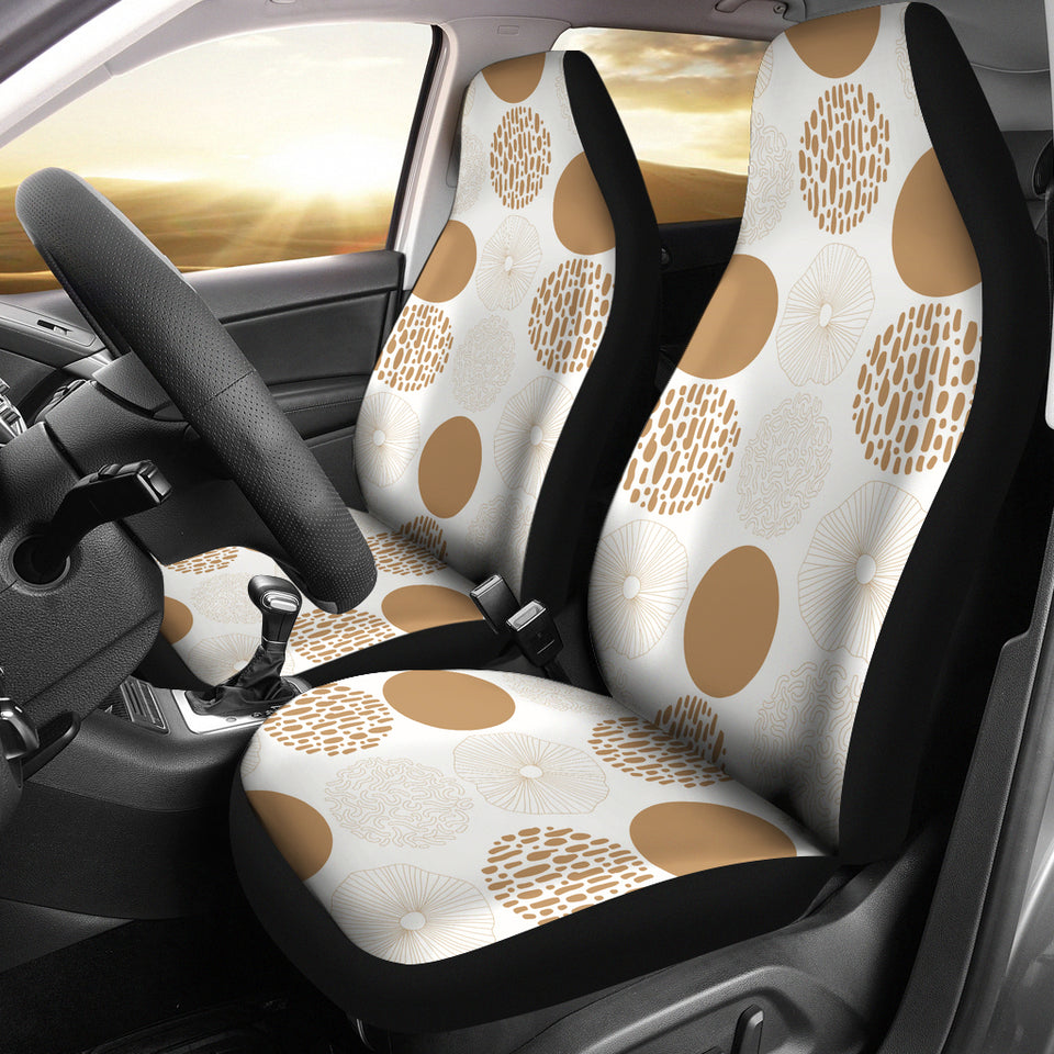 Gold Texture Mushroom Pattern Universal Fit Car Seat Covers