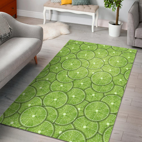 Slices of Lime pattern Area Rug