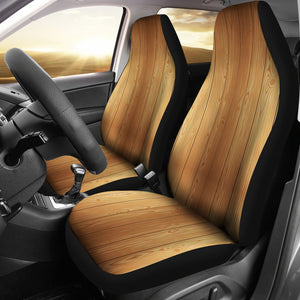 Wood Printed Pattern Print Design 05 Universal Fit Car Seat Covers