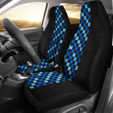Blue Check Car Seat Cover