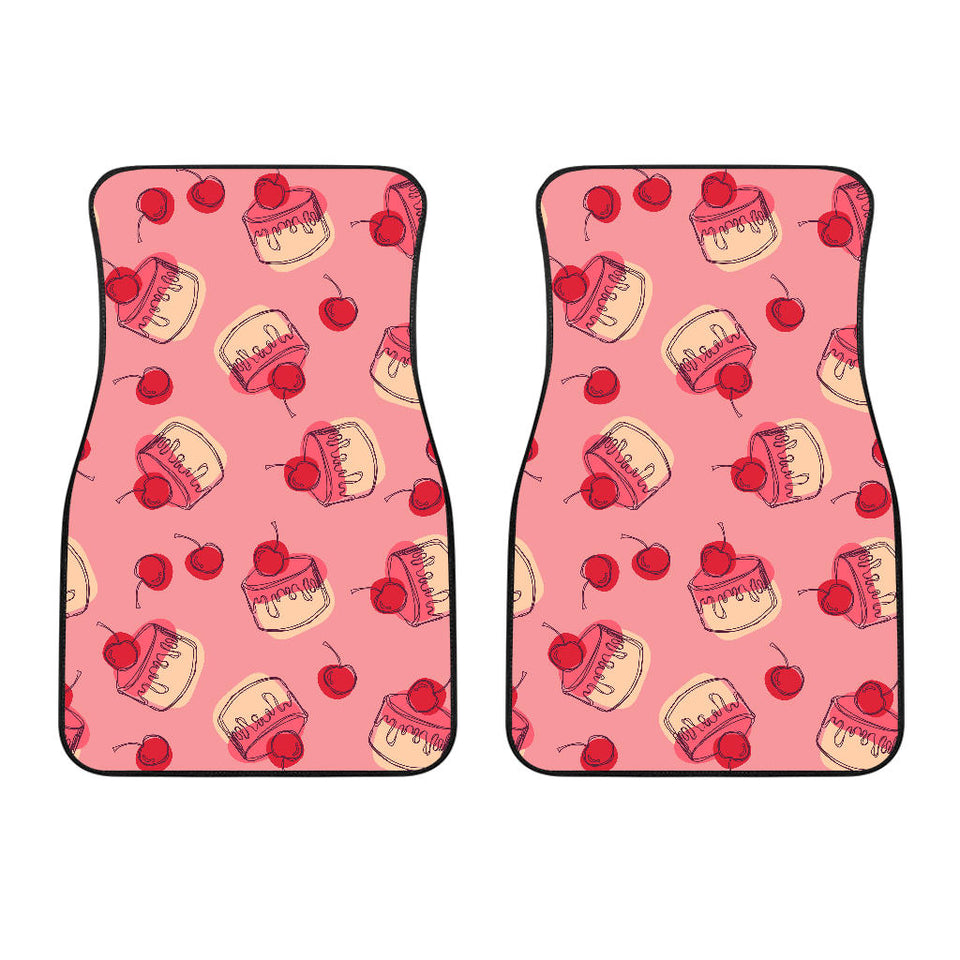 Cake Cherry Pattern  Front Car Mats