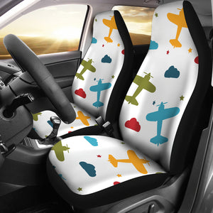 Airplane Star Cloud Colorful  Universal Fit Car Seat Covers