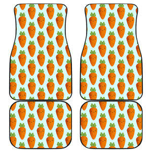 Carrot Pattern Print Design 03 Front and Back Car Mats