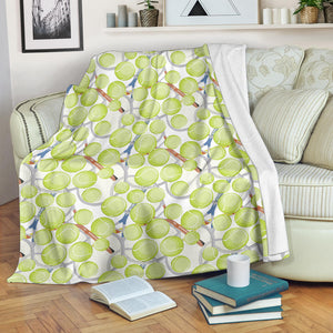 Tennis Pattern Print Design 01 Premium Blanket