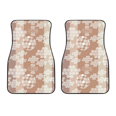 Beautiful Hexagon Japanese  Pattern Front Car Mats