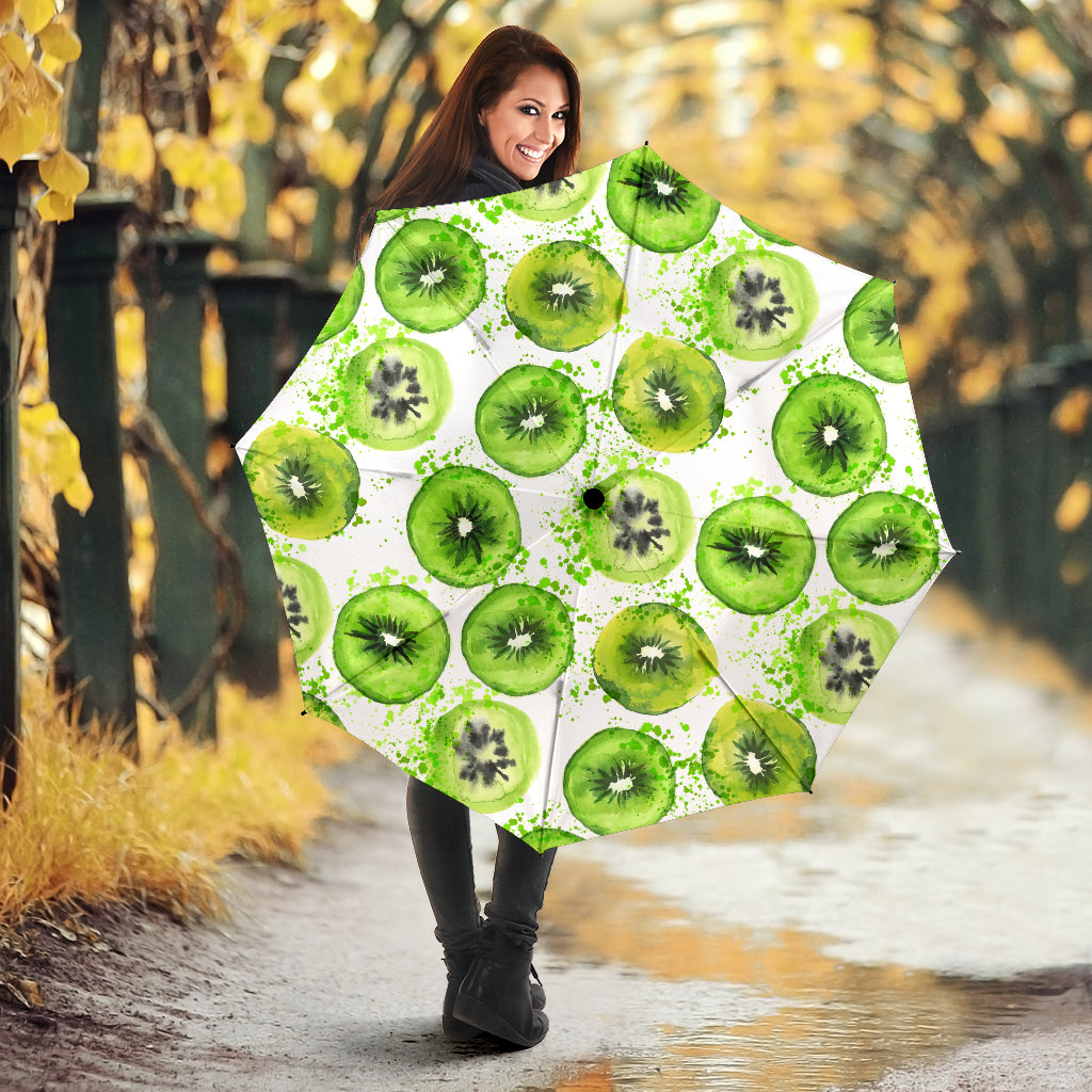 Watercolor kiwi pattern Umbrella