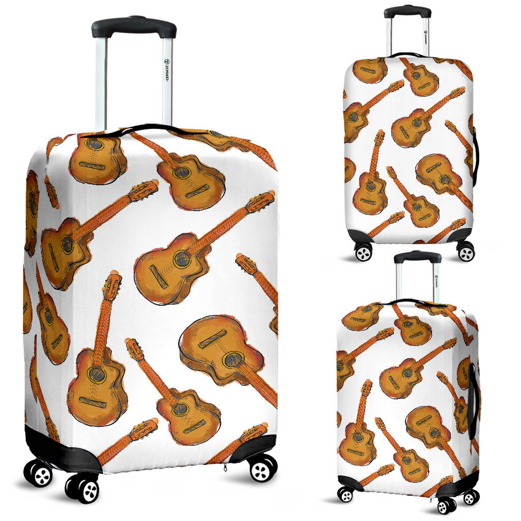 Paint Guitar Pattern Luggage Covers