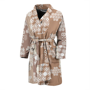 Beautiful hexagon japanese  pattern Men's Bathrobe
