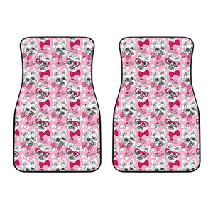 Yorkshire Terrier Pattern Print Design 03 Front Car Mats