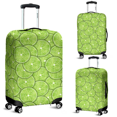 Slices of Lime pattern Luggage Covers