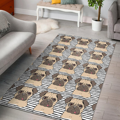 Happy pug pattern Area Rug