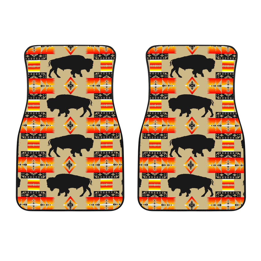 Seven Tribes Tan Buffalo Front Car Mats (Set Of 2)