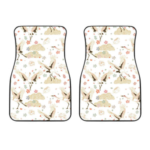 Beautiful Japanese Cranes Pattern Front Car Mats