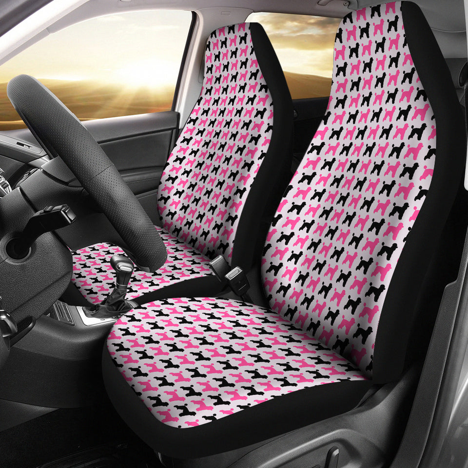 Pink Poodle Car Seat Covers